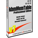 kbmMemTable v. 7.78.00 Standard and Professional Edition released